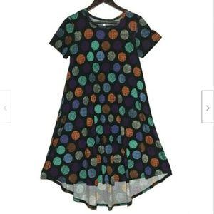 LuLaRoe Polka Dot Carly Dress XS Made In USA